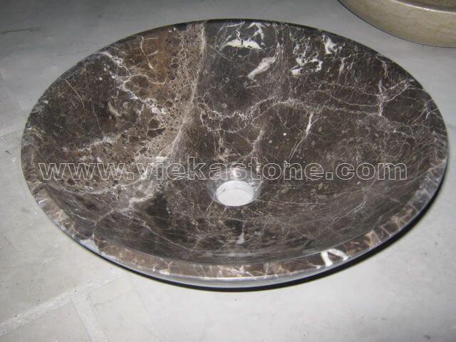 dark emperador marble sink stone (3)