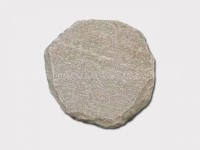 tiger skin yellow quartzite round stepping stone