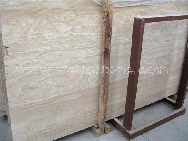 turkey light travertine slab