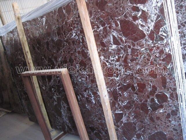 violet red marble slab
