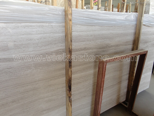 white wooden stone slab