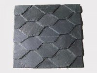 Black Roofing Slate Tile Hexagon
