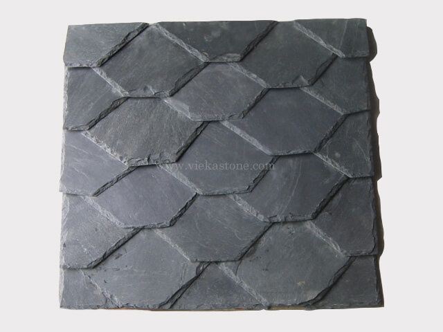 Black Roofing Slate Tile Hexagon