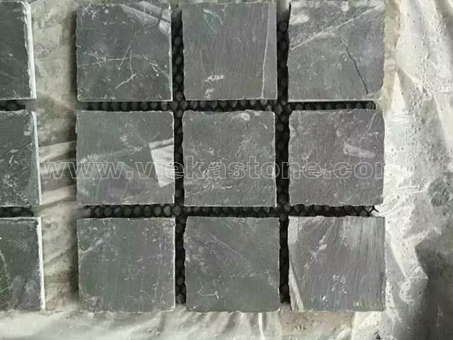Black slate cube stone