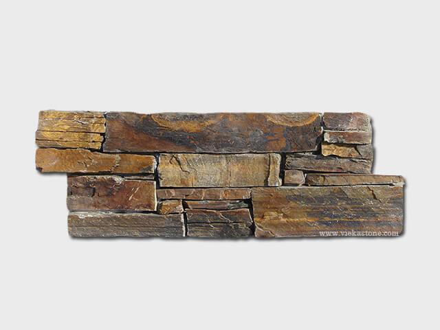 Rusty Slate Cement Wall Stone Pane 1