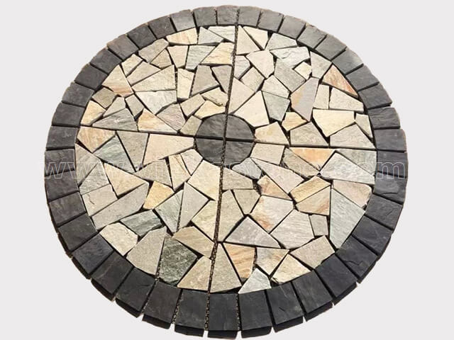 Slate Mosaic Medallion Pattern (2)