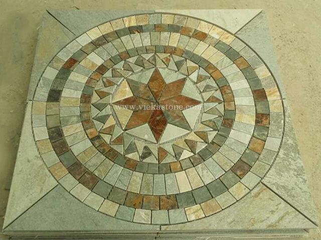 Slate Mosaic Medallion Pattern (7)