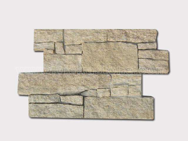 Tiger Skin Yellow Cement Wall Stone Panel 4-1