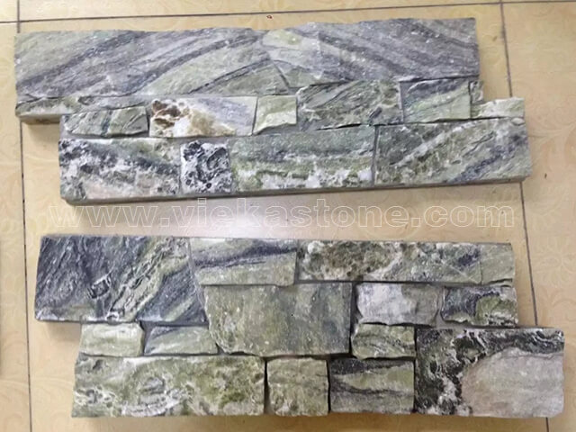 Black Ice Cement Wall Stone Panel 10-1