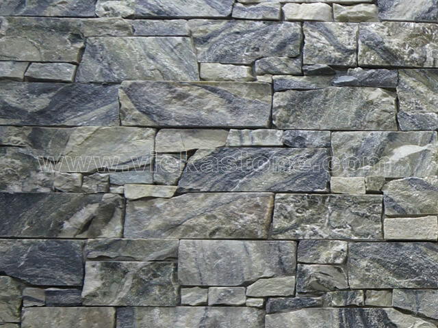Black Ice Cement Wall Stone Panel 10-2