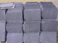 black roofing slate tile cut corner