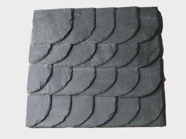 black roofing slate tile quarter round