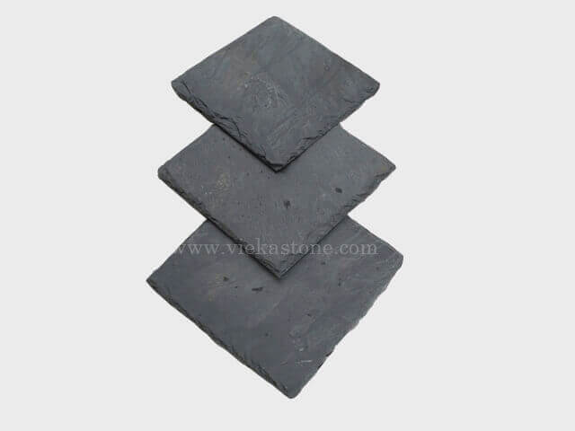 black roofing slate tile square