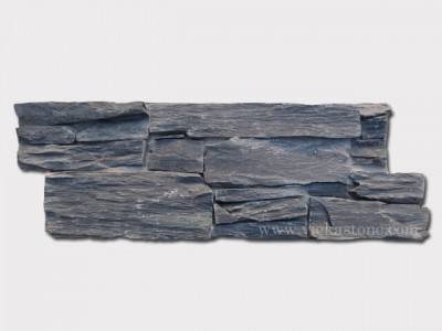 Black Slate Cement Wall Stone Pane 3