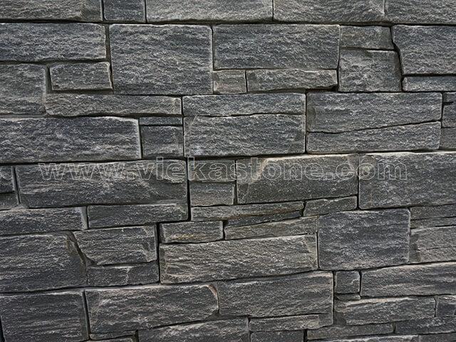 Black Slate Cement Wall Stone Pane 3-3