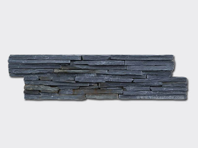 Black Slate Cement Wall Stone Panel 16