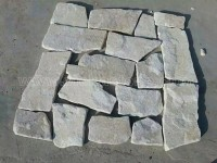 cream white quartzite irregular crazy flagstone paving