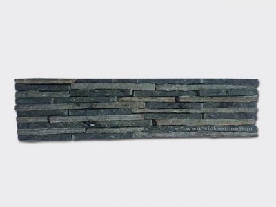 green slate strip cement wall stone panel 18