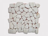 white quartizte cloud grey pebble mesh mosaic tile 1