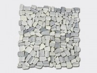 cloud grey pebble mesh mosaic tile 2