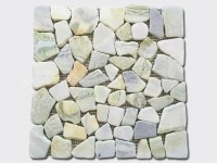 cream pebble mesh mosaic tile 4