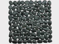 black pebble mesh mosaic tile 7