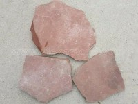 red irregular crazy flagstone paving