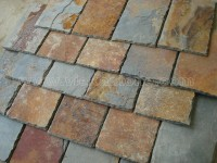 rusty roofing slate tile rectangle shape (1)