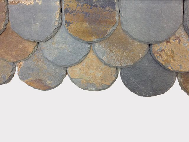 rusty roofing slate tile scale fish shape (3)