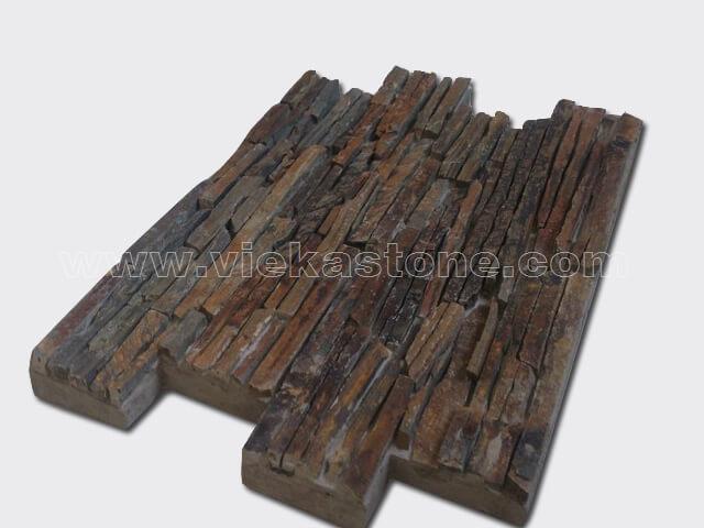 rusty Slate Cement Wall Stone Panel 12-2