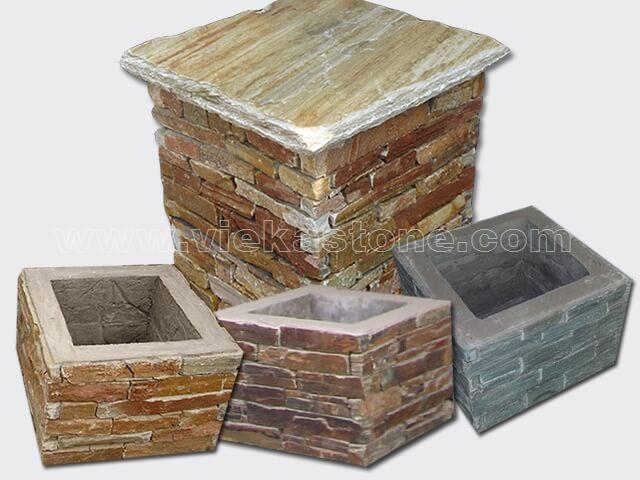 slate ledgestone pillar