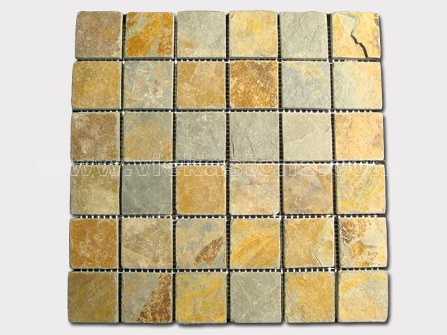 Slate Mosaic Tile - VIEKA - Natural Culture Stone, Slate Stacked ...