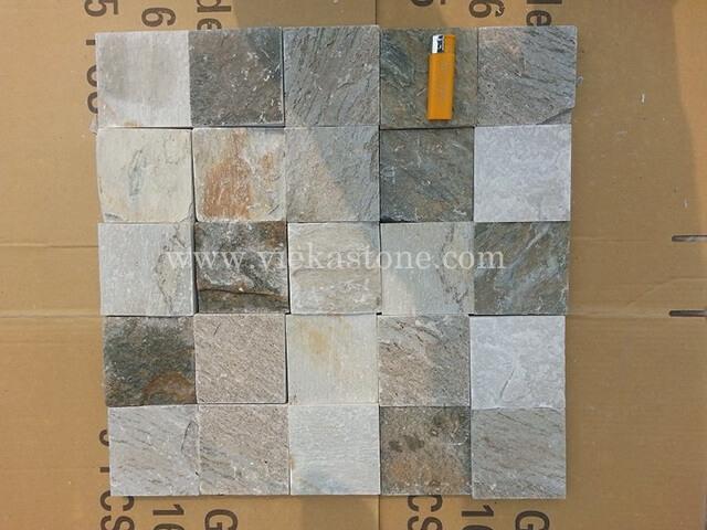 P014 yellow slate-mosaic-pattern-tile-93