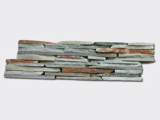 Yellow Mix Slate Cement Wall Stone Panel 14
