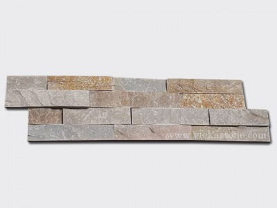 Beige Slate Stone Cladding Wall Panels z shape 1