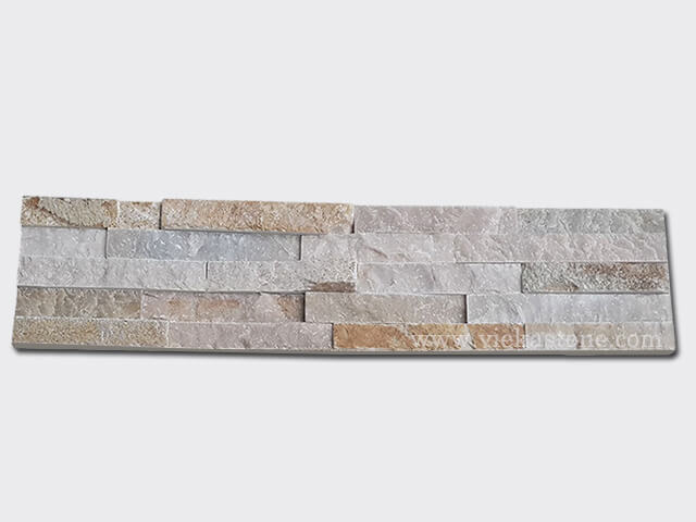 Beige Slate Stone Panels Wall Cladding Rectangle Shape 1