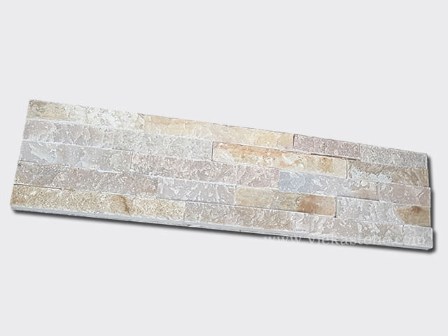 Beige Slate Stone Panels Wall Cladding Rectangle Shape 2