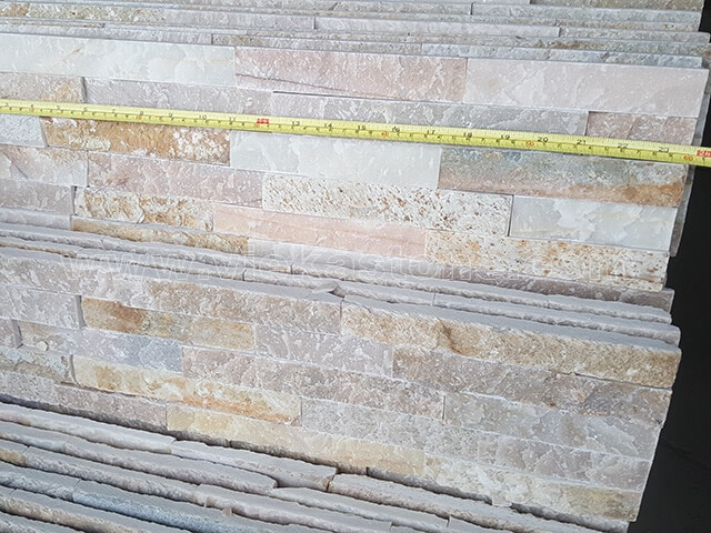 Beige Slate Stone Panels Wall Cladding Rectangle Shape 4