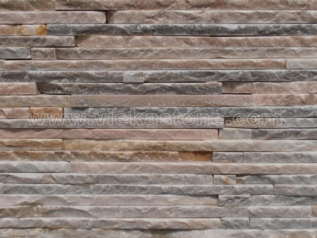 Beige Slate Stone Panels Wall Cladding Waterfall Rectangle Shape 2