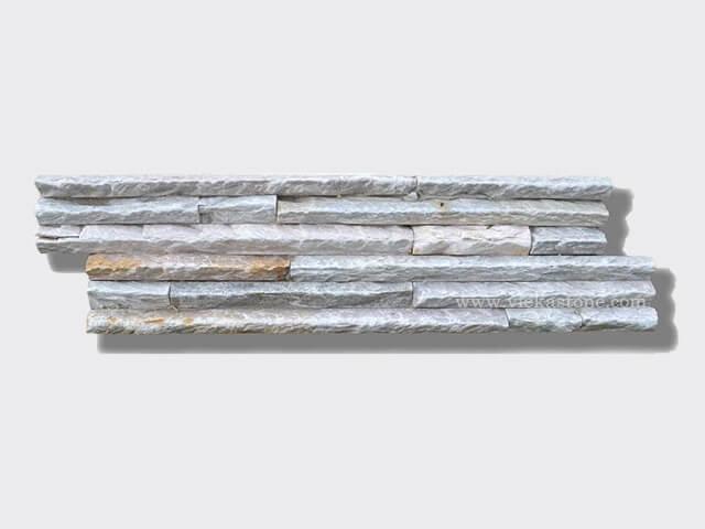 Beige slate stone cladding wall panels 1