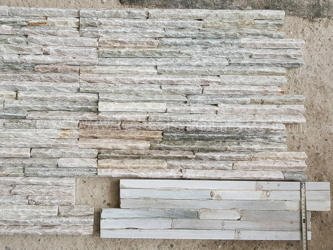 Beige slate stone cladding wall panels 4