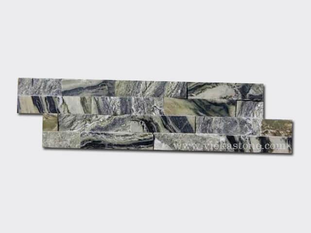 Black Ice Slate Stone Cladding Wall Panels z shape 1