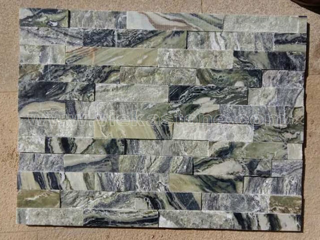 Black Ice Slate Stone Panels Wall Cladding Rectangle Shape 2