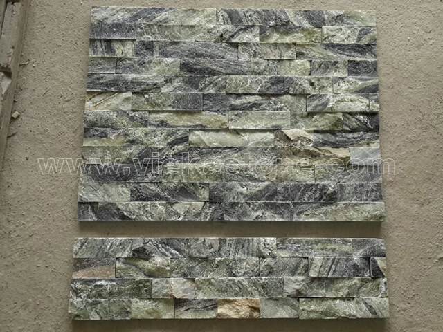 Black Ice Slate Stone Panels Wall Cladding Rectangle Shape 3