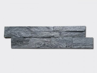 Black Quartz Stone Cladding Wall Panels z shape 1