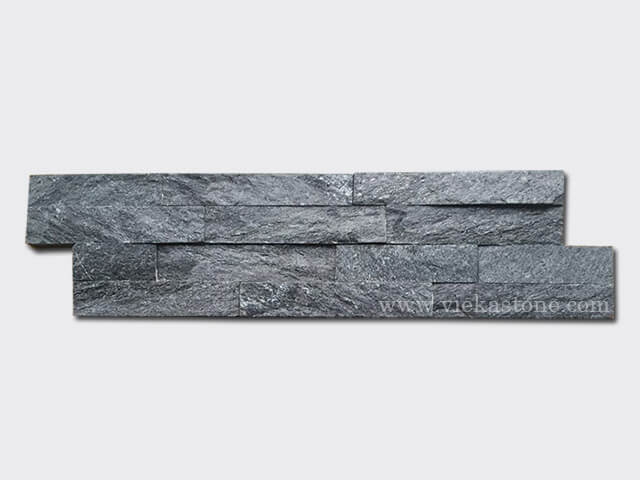 Black Quartz Stone Cladding Wall Panels z shape 1
