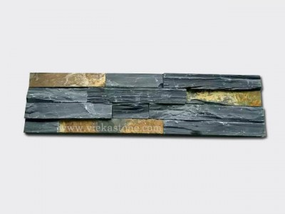 black rustic ledgstone veneer rectangle shape lp12-1