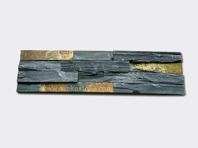 black rustic ledgstone veneer rectangle shape lp12-1