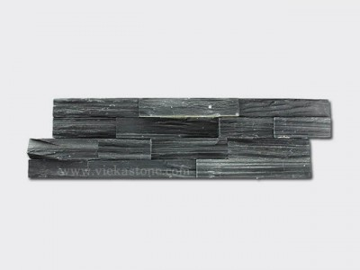 black slate charcoal ledgestone veneer s shape lp10-1