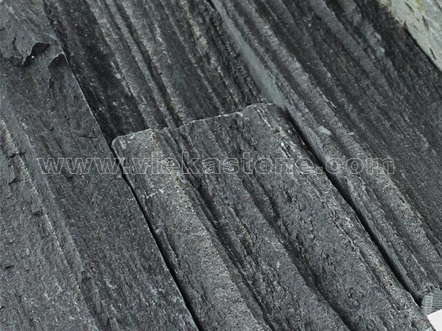black slate charcoal ledgestone veneer s shape lp10-2